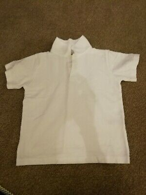 White Polo Shirt, Age 6-7, M&S ideal for school.