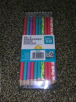 No 2 MULTI COLORED Sharpened Wood Pencils 30 count