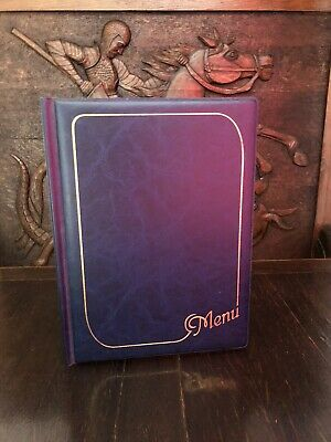 Valentines BLUE MENU HOLDER/FOLDER A4 Special Staying in Night Romantic Dinner