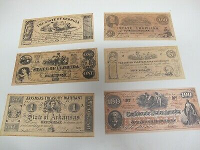 Vintage Lot 6 Facsimile Currency