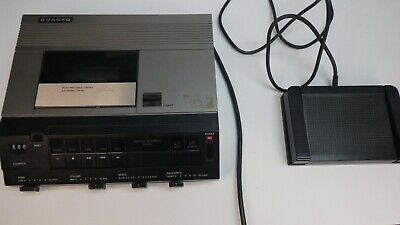 Sanyo TRC9010 Dictation Memo-Scriber Audio Cassette Transcribing w/ Foot Pedal
