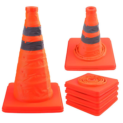 Faswin 4 Pack 15.5 Inch Collapsible Traffic ConesSafety Road Parking Cone Drivi