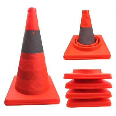 Liben Annurssy 4-Piece 15.5-Inch Collapsible Safety Traffic Cones Multi-Purpose