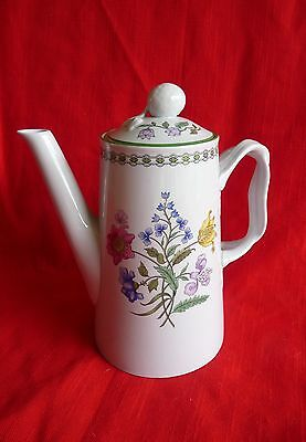 SPODE England W150 - SUMMER PALACE 4 Cup  COFFEE POT w/ Colorful FLOWERS