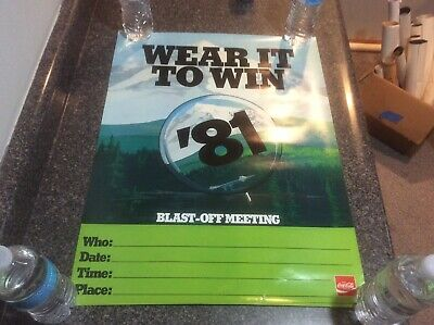 Vintage 1981 Coca Cola Training Poster New Old Stock Kick Off Meeting