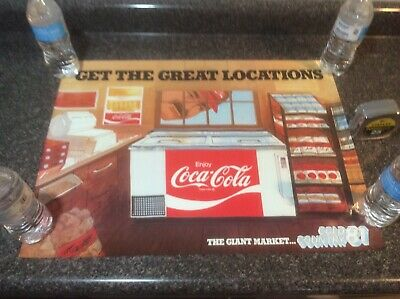 Vintage 1981 Coca Cola Training Poster New Old Stock Location