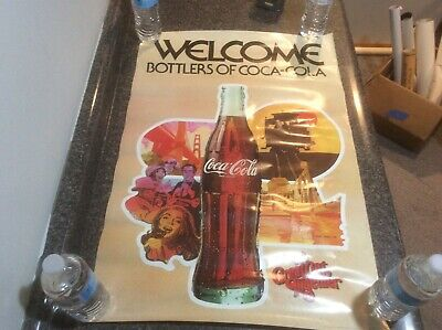 Vintage 1979 Coca Cola Poster New Old Stock Welcome Bottlers