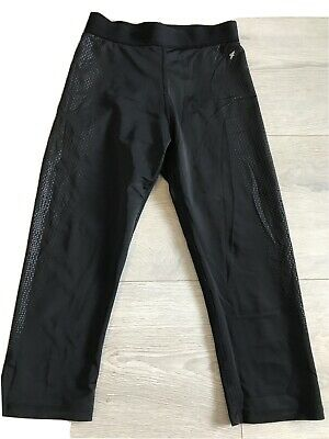 Ladies Black  Workout Excercise Sports Leggings Size 6/8