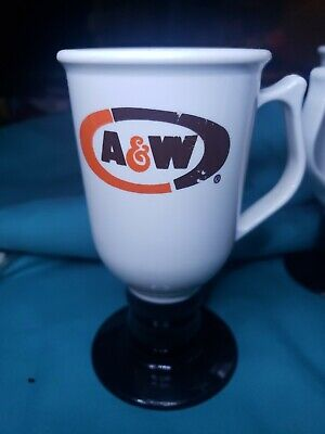 A&W Plastic Coffee Cup On A Stem, Plastic, 2
