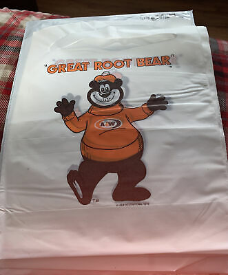 12 Vintage A&W ROOT BEER SODA ADVERTISING Plastic Bibs 1978 Unused Old Stock NOS