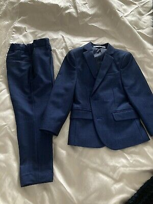 Boys Marks and Spencer Blue Suit 2 Piece 3-4 Years