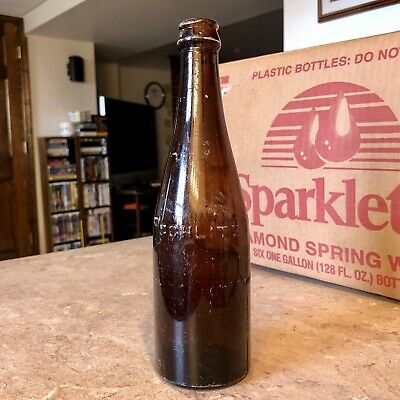 Pre-Pro Beer Bottle Schlitz Milwaukee WI Wisconsin Amber 1910s Odd Variant