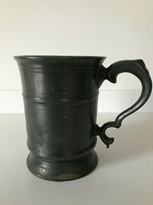 Antique Victorian Tankard Pewter Stamped V.r. Covent Garden