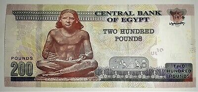 Egypt One 200 Pounds UNC Note 2019 (ONLY ONE NOTE FROM THE LISTING)