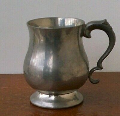 Antique Late Victorian - Early Edwardian Pewter Tankard.