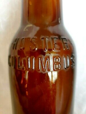 Antique VTG Hoster Columbus Amber Beer Bottle