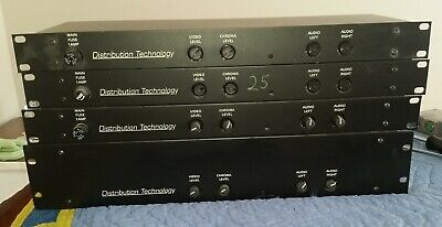 (4) Distribution Technology 14 & 28 Channel Audio Video Distribution Amp Rack
