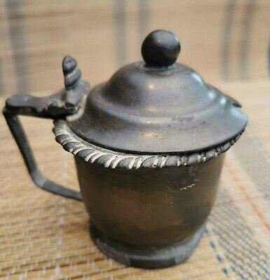 James Dixon and Sons Pewter Mustard Pot Antique