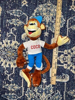 Rare Team Kellogs Coco Plush Monkey Collectable With flaw