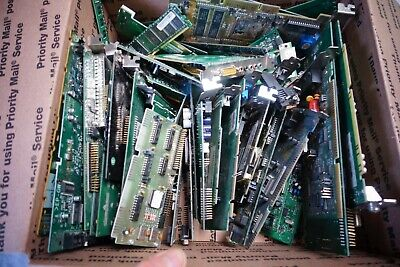 lot 8 lb of computer parts for gold recovery