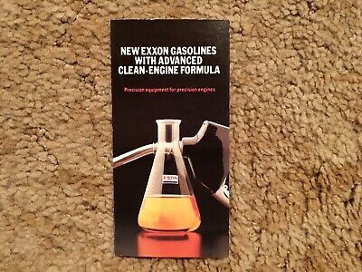 Exxon New Gasolines With Advanced Clean Engine Formula Brochure 1980s