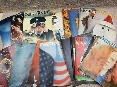 18 X Observer / Telegraph Magazines Pull Outs Vintage Retro Classic 1960's