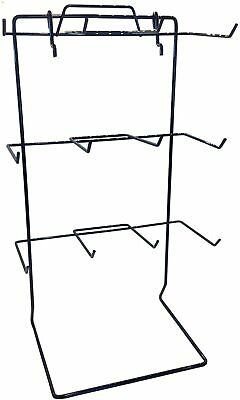 Display Rack in Black with 12 Hooks 17.75 H x 10 W Inches