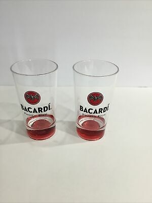 Bacardi Drinking Souvenir Melamine Cups from Puerto Rico Bacardi Tour Set of 2