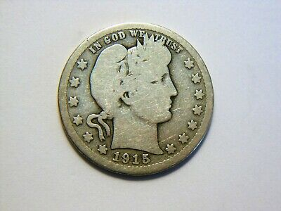 1915-S G/G- Silver Barber Quarter,  Nice *Low Mintage* (704K) Coin to collect