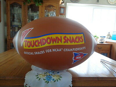 """Inflatable Collectible Football Nabisco Touchdown Snacks 28"""" end to end EUC"""