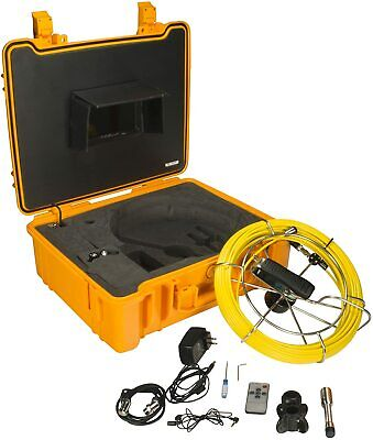 Steel Dragon Tools 710DN Waterproof Pipe Inspection Camera with DVR and 130 FT