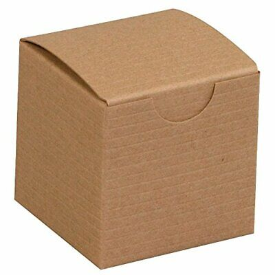 """Top Pack Supply Gift Boxes 2"""" x 2"""" x 2"""" Kraft Pack of 200"""