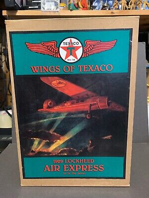 ERTL Wings Of Texaco Coin Bank - 1929 Lockheed Air Express - 1st in Series Plane