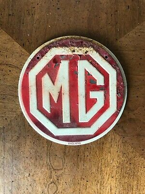 Vintage 1950s Wheaties Cereal MG Metal Auto Car Emblem Badge Grill