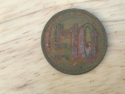 1970 Korea 10 Won Coin