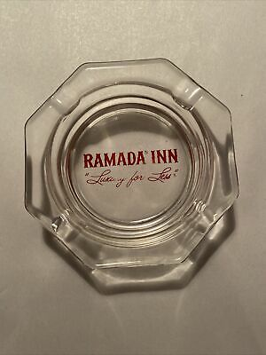 Ramada Inn Vintage Advertising Ashtray CLEAR GLASS Cigarette Ash Tray