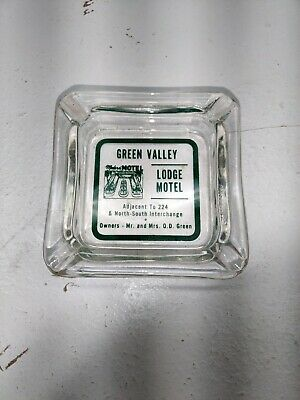 VTG  Green Valley Lodge Motel Ashtray Motel North South Interchange OHIO