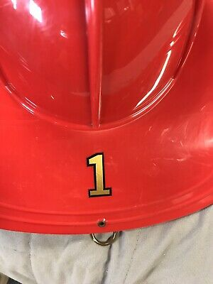 Number 1 Sticker for Texaco fire chief toy helmet.