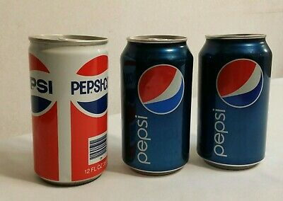 (3) Unopened Pepsi cans 1- Soda HALL OF FAME ~ Taste The Pride of The Carolinas