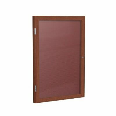 "Ghent 2"" x 1 1/2"" 1 Door Enclosed Flannel Letter Board Burgundy Letter Panel ..."