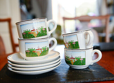 Villeroy Boch Design Naif 1st Quality Set Of 4 Cups And Saucers Luxembourg 39 00 Picclick Uk