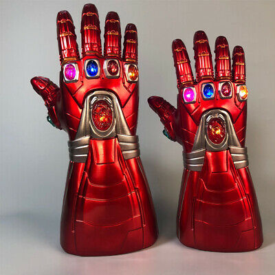 Avengers Thanos Iron Man Infinity Cosplay Gauntlet Stone Removable LED Glove NEW