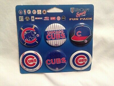 Chicago Cubs Wincraft Special Fun Pack Pinbacks Button Set 6 Buttons On Card