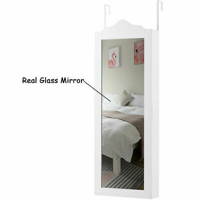 Jewelry Boxes, Safekeeper Footed Mirror Jewelry Cabinet