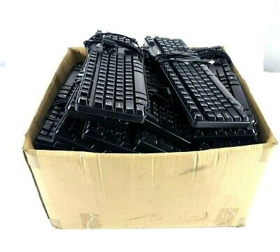 Lot of 50 Dell Genuine Wired Keyboard USB RT7D50 L100 SK-8115 104-Keyboard