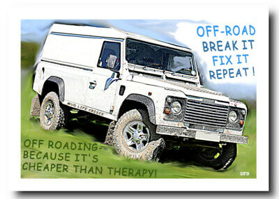 Birthday Card Landrovers Defender 110 Country Cards Quality NEW
