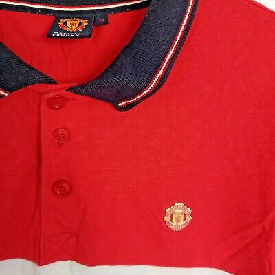 Manchester United Man Utd Official Polo Shirt T Shirt Golf Xl Top With Badge 2 20 Picclick Uk