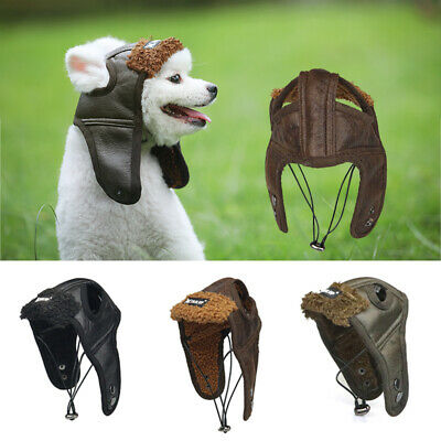 Pet Winter Dog Protection Hats Costume Aviator Cap Windproof Warm Cosplay Funny