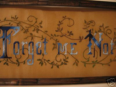 Victorian Motto  Forget Me Not