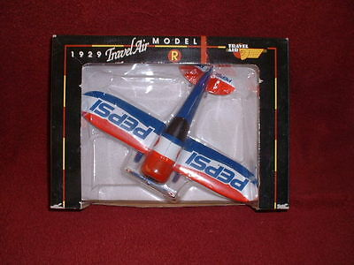 "PEPSI-COLA Collectible 1929 ""TRAVEL AIR Model R"" DIECAST METAL COIN BANK"